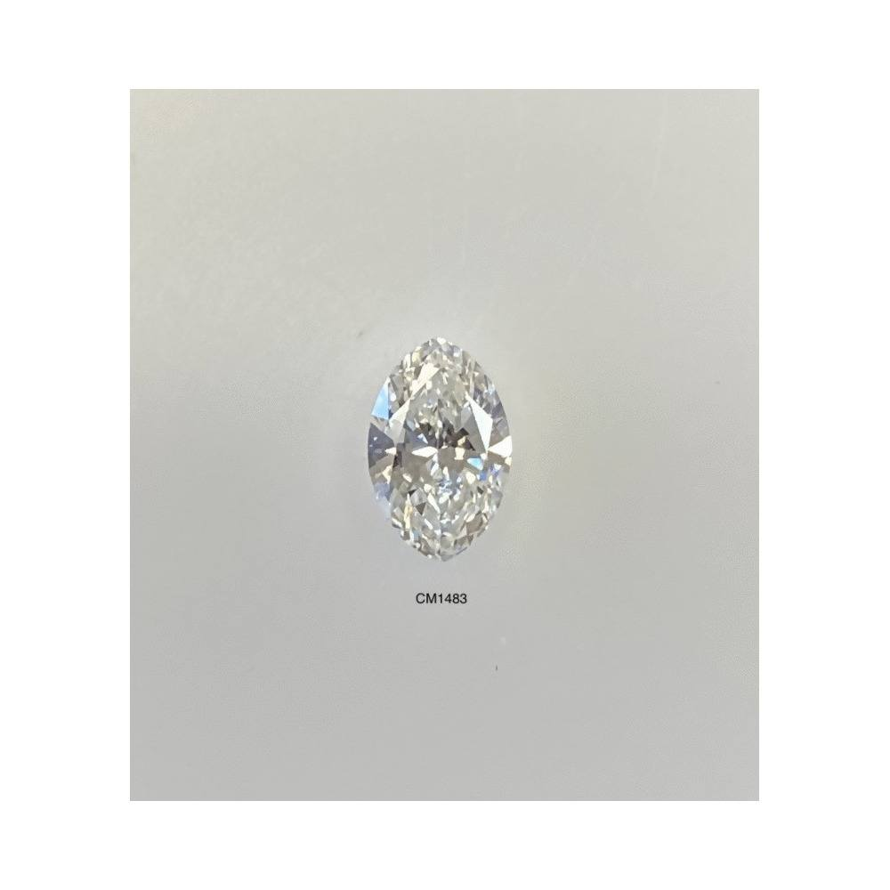0.59 Carat Marquise Loose Diamond, G, SI2, Super Ideal, AGS Certified