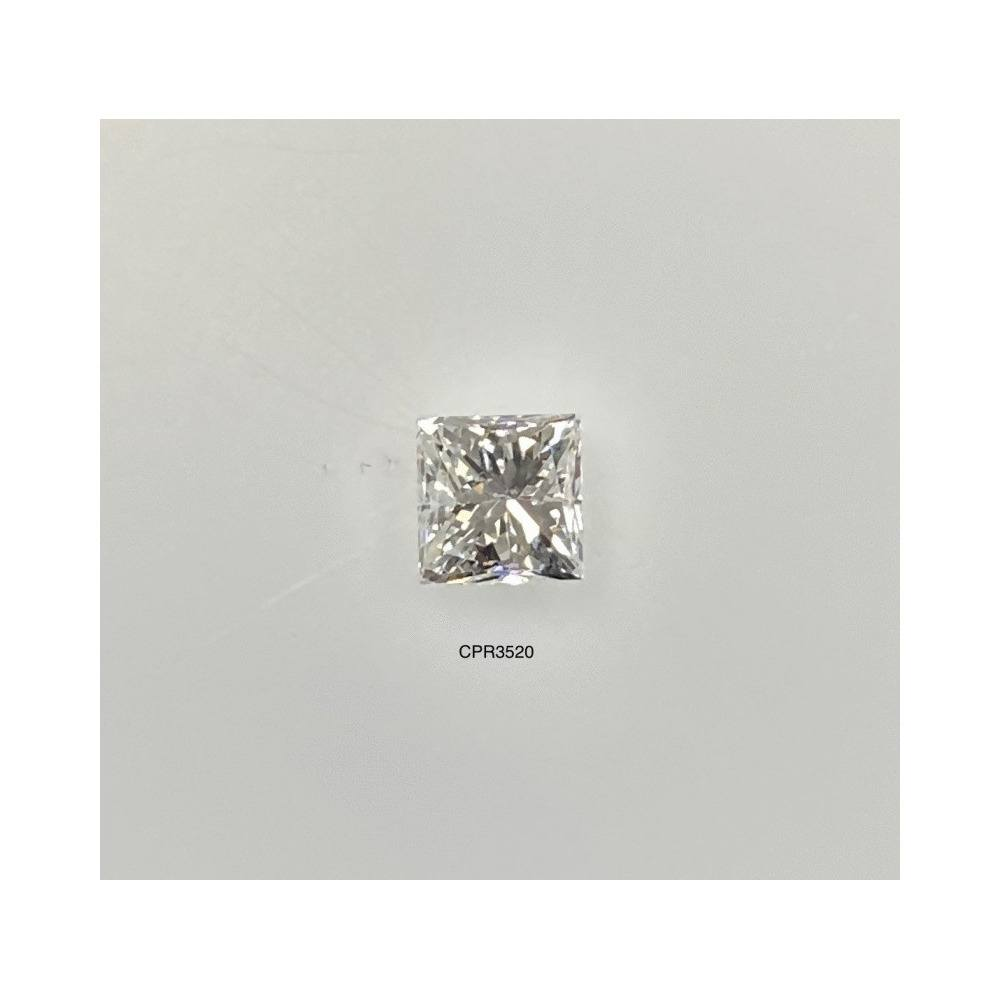 0.47 Carat Princess Loose Diamond, H, SI2, Good, AGS Certified