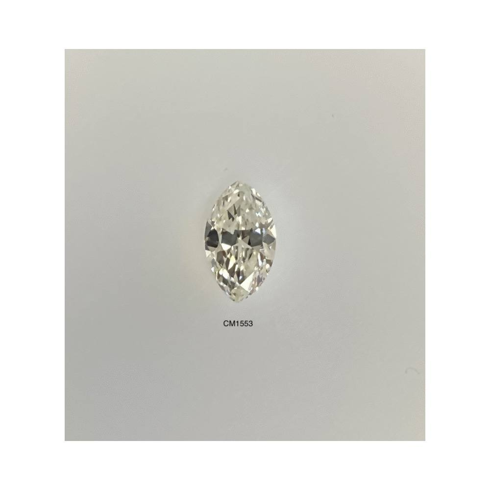 0.50 Carat Marquise Loose Diamond, K, VS1, Excellent, AGS Certified