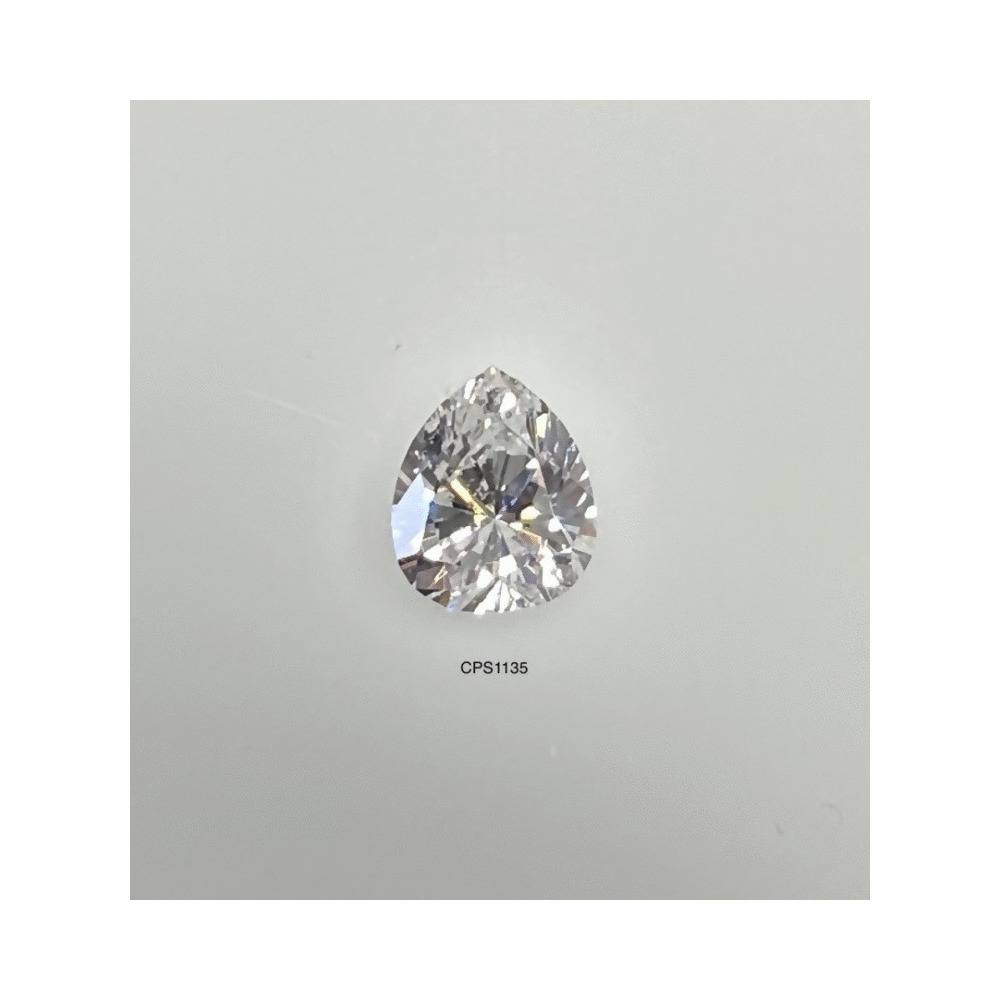 0.53 Carat Pear Loose Diamond, E, I1, Excellent, GIA Certified