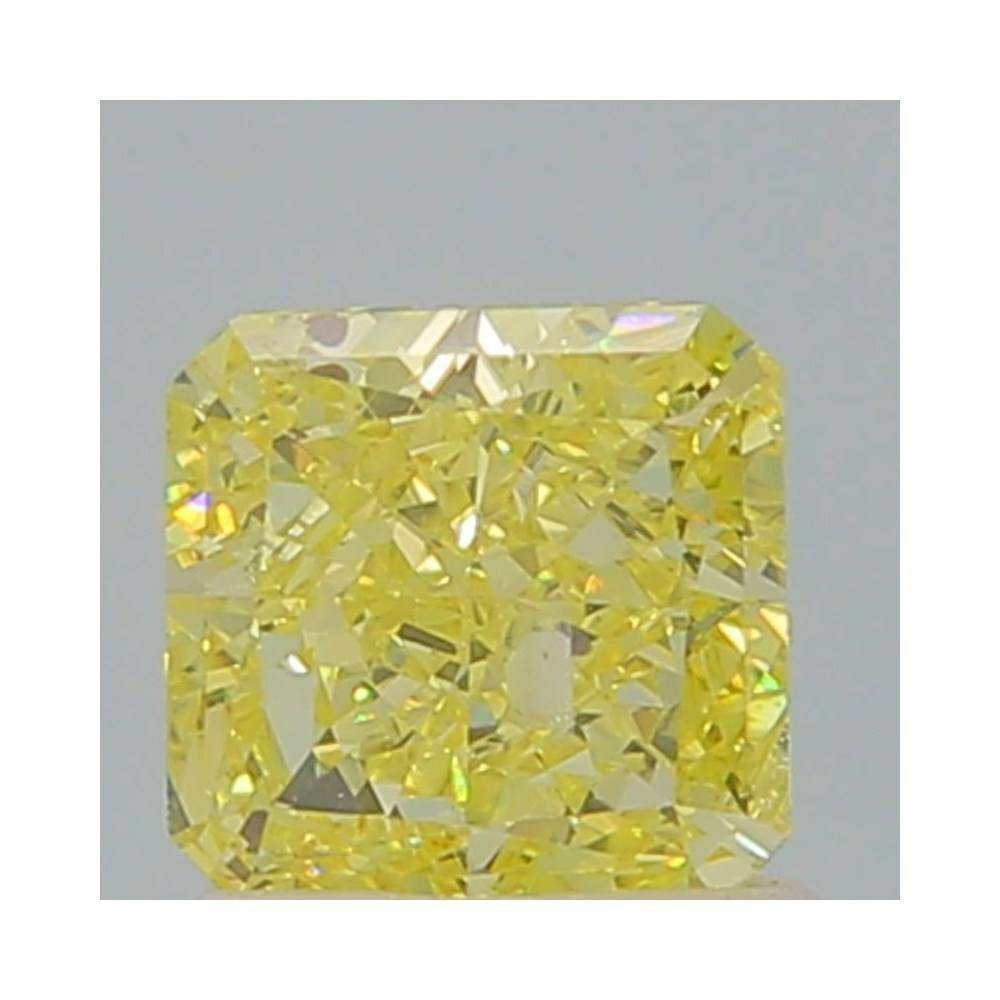 1.03 Carat Radiant Loose Diamond, Fancy Yellow, I1, Ideal, GIA Certified