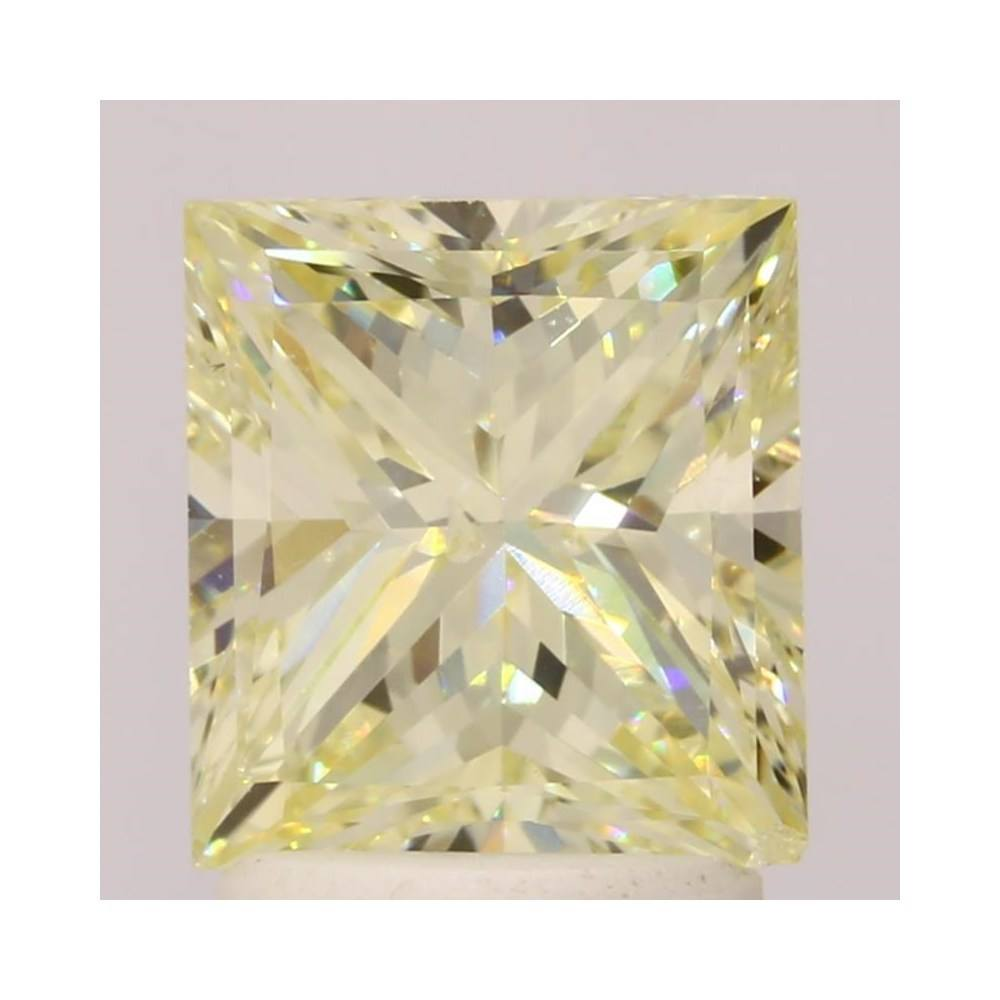 1.88 Carat Princess Loose Diamond, Fancy Light Yellow, SI2, Excellent, GIA Certified