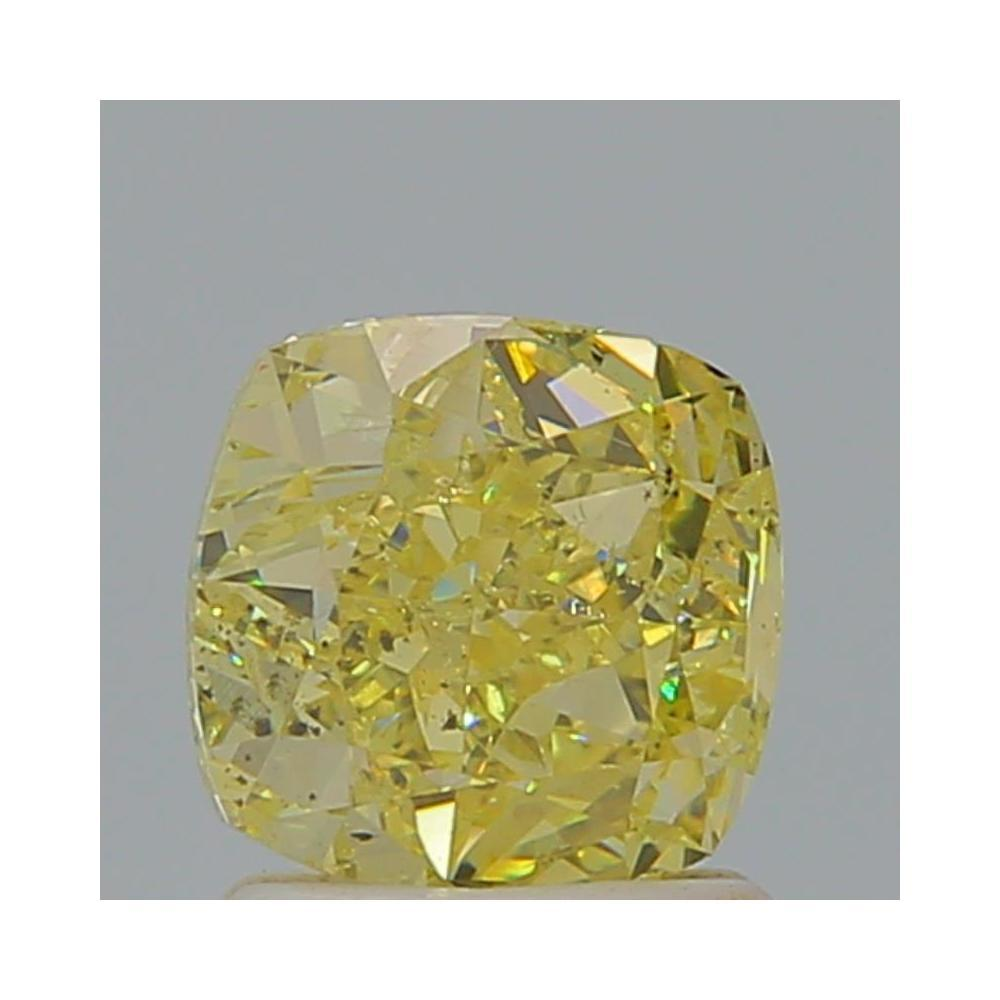 1.51 Carat Cushion Loose Diamond, Fancy Yellow, SI2, Excellent, GIA Certified