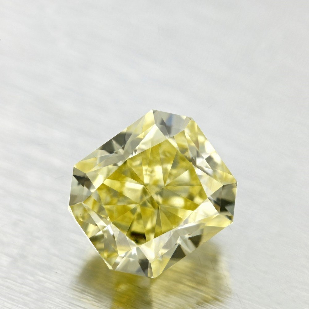 1.00 Carat Radiant Loose Diamond, Fancy Intense Yellow, VS2, Excellent, GIA Certified