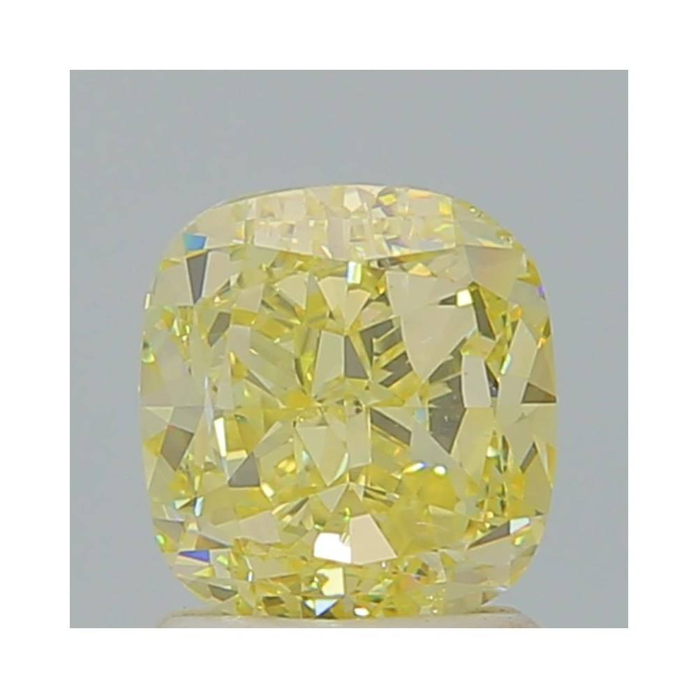 1.72 Carat Cushion Loose Diamond, Fancy Light Yellow, VS2, Very Good, GIA Certified