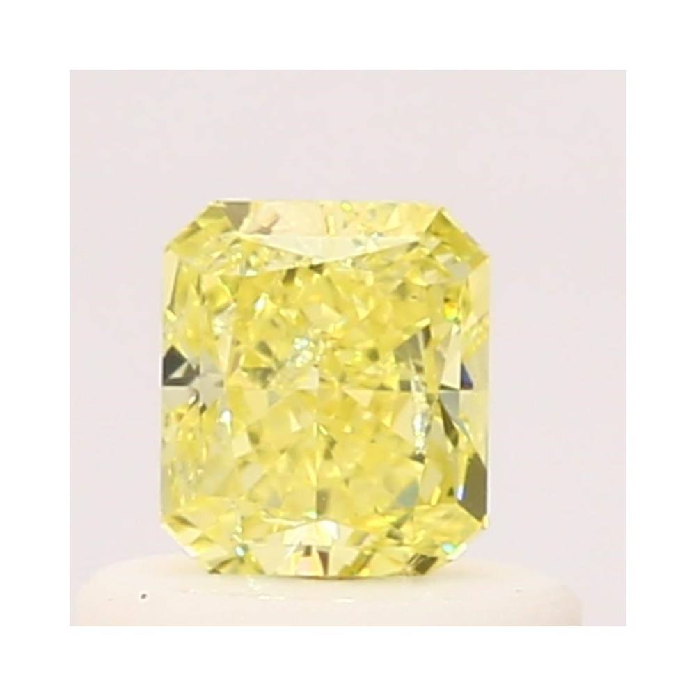 0.44 Carat Radiant Loose Diamond, Fancy Yellow, SI2, Ideal, GIA Certified