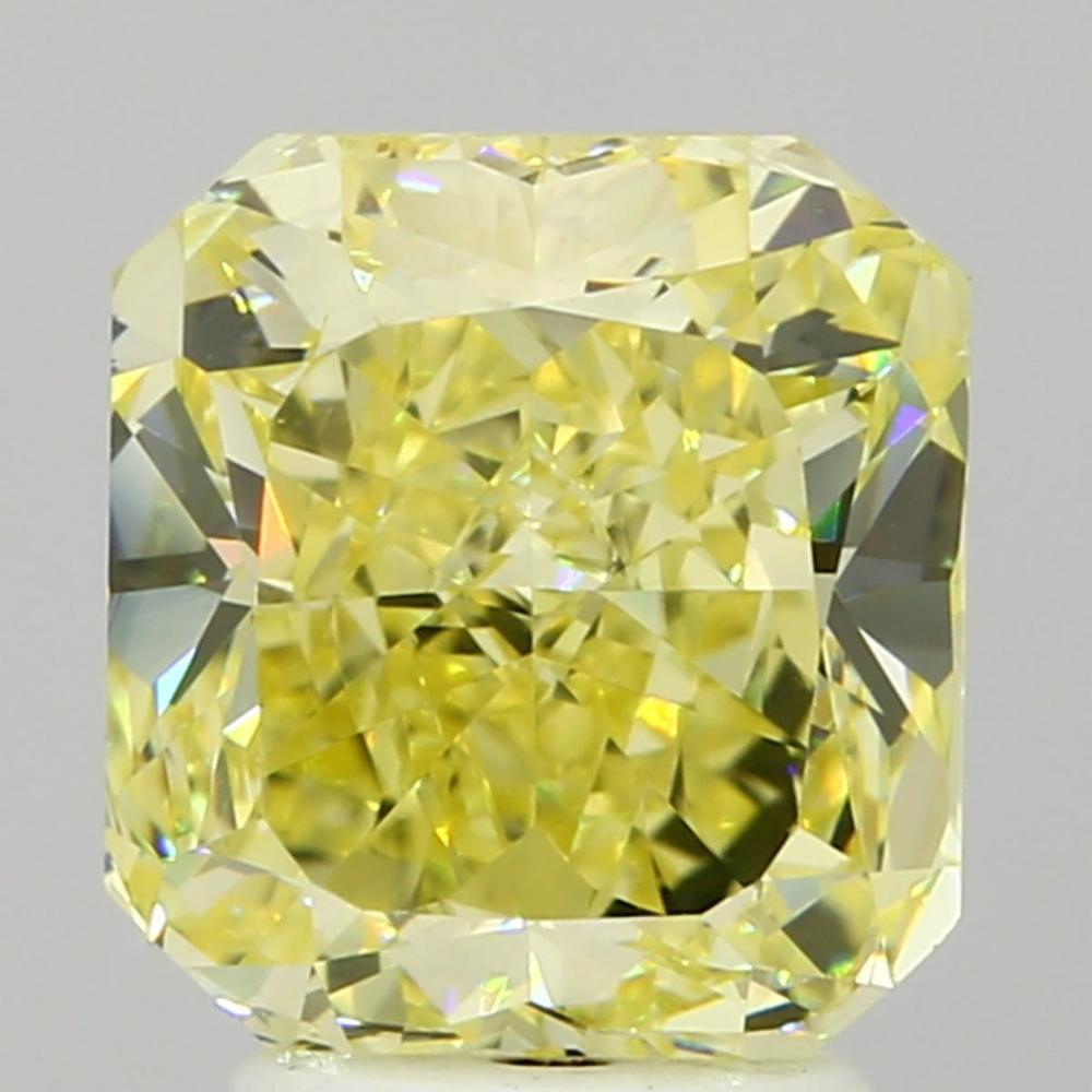 3.04 Carat Radiant Loose Diamond, Fancy Intense Yellow, VS2, Good, GIA Certified