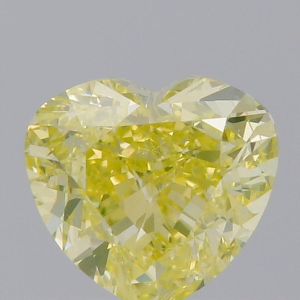 0.51 Carat Heart Loose Diamond, Fancy Greenish Yellow, SI1, Ideal, GIA Certified