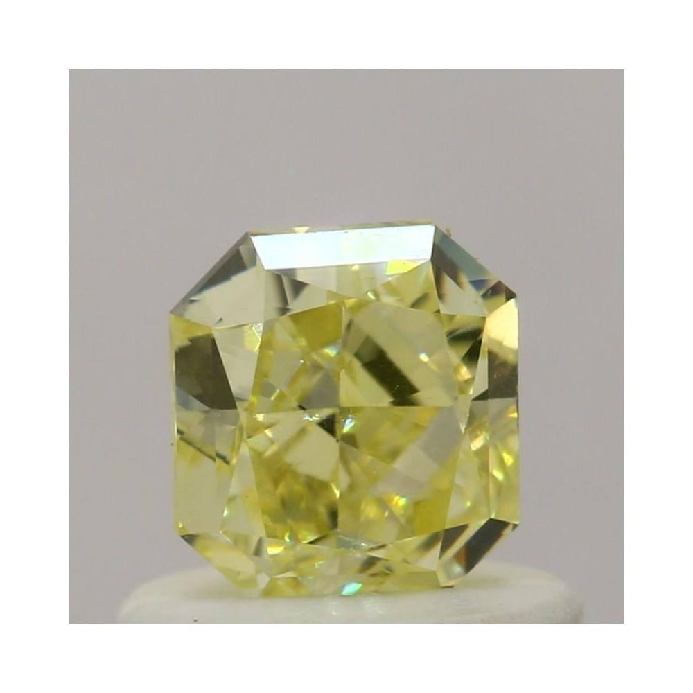 0.58 Carat Radiant Loose Diamond, Fancy Yellow, VVS2, Excellent, GIA Certified