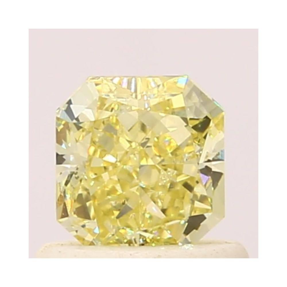 0.70 Carat Radiant Loose Diamond, Fancy Yellow, SI2, Super Ideal, GIA Certified