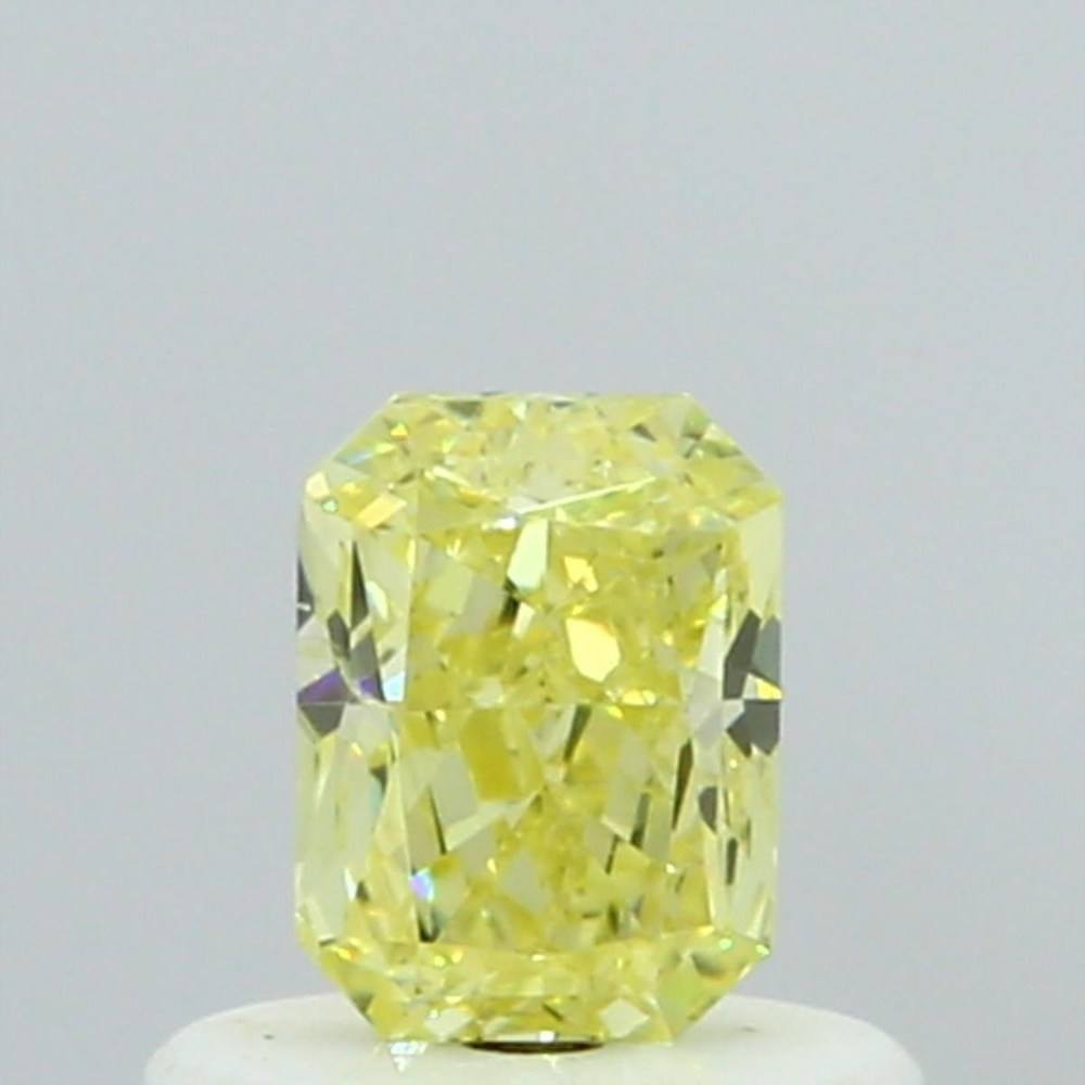 0.46 Carat Radiant Loose Diamond, Fancy Yellow, SI2, Very Good, GIA Certified