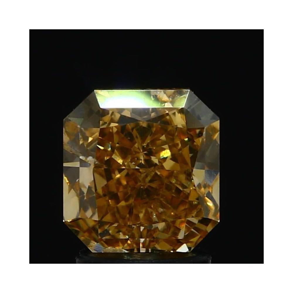 2.10 Carat Radiant Loose Diamond, Fancy Brown Yellow, SI2, Excellent, GIA Certified