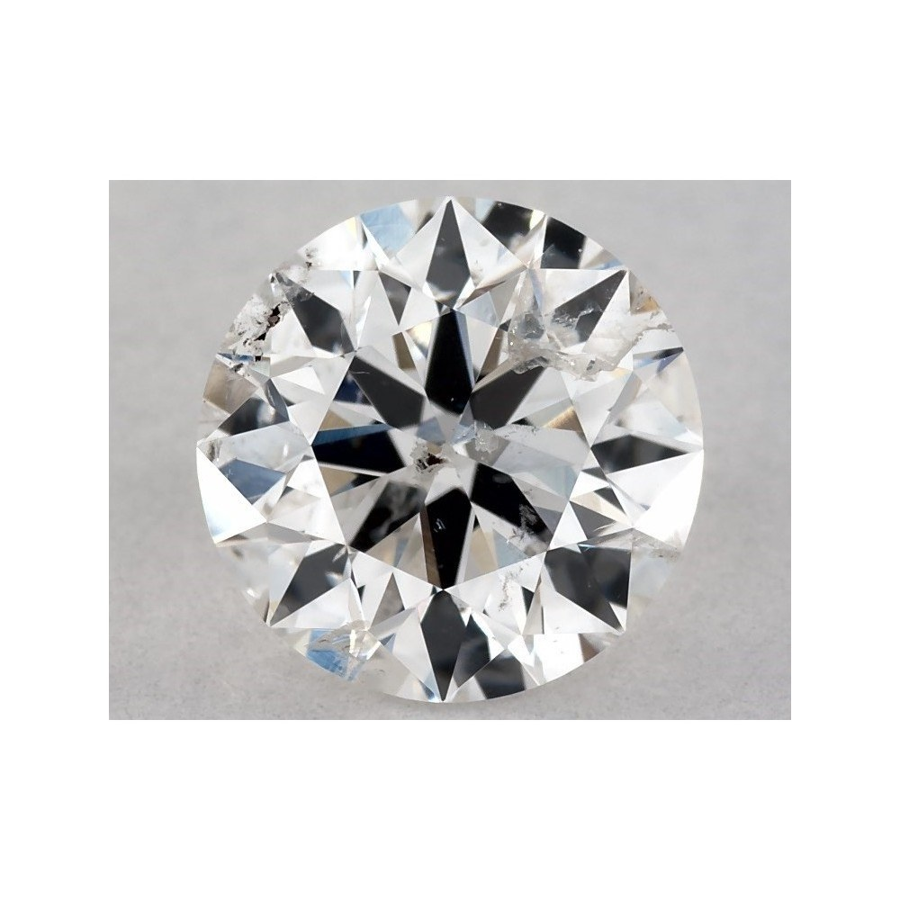 0.92 Carat Round Loose Diamond, F, I1, Super Ideal, GIA Certified