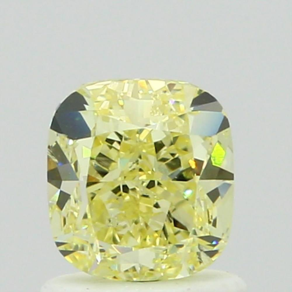 1.02 Carat Cushion Loose Diamond, Fancy Yellow, SI2, Excellent, GIA Certified | Thumbnail