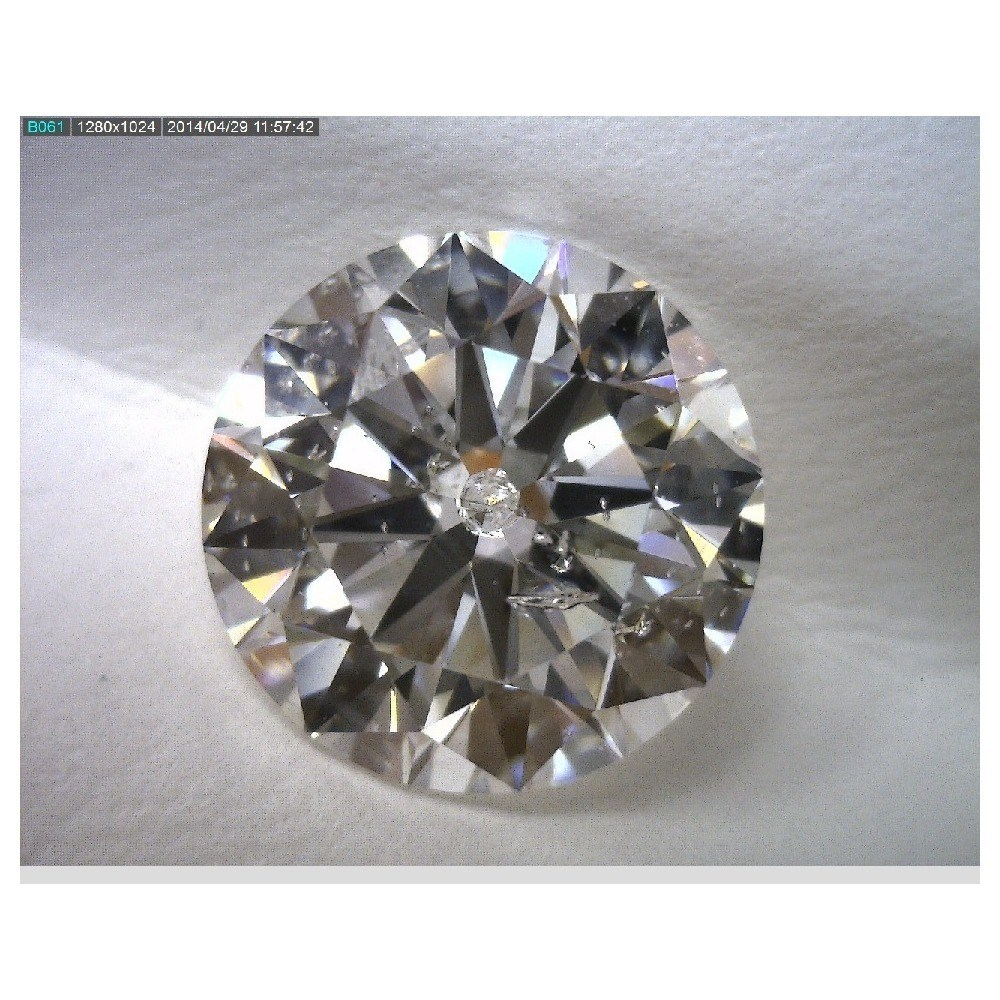 3.02 Carat Round Loose Diamond, G, SI2, Ideal, HRD Certified