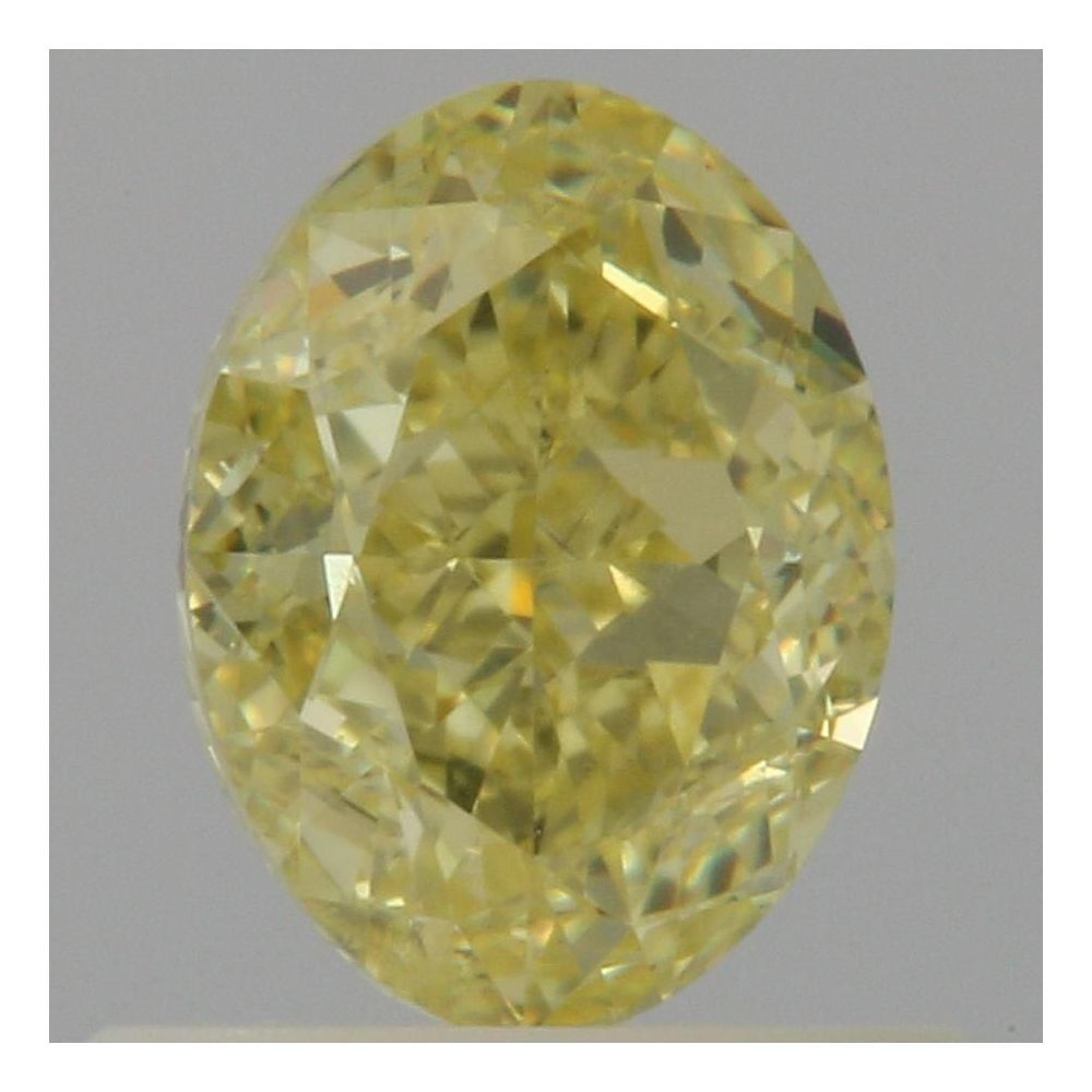 0.72 Carat Oval Loose Diamond, Fancy Yellow, VVS2, Very Good, GIA Certified