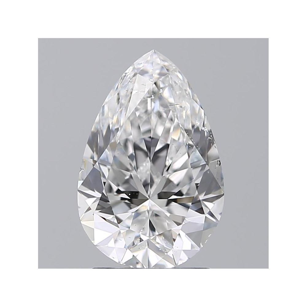 1.70 Carat Pear Loose Diamond, E, SI1, Super Ideal, GIA Certified