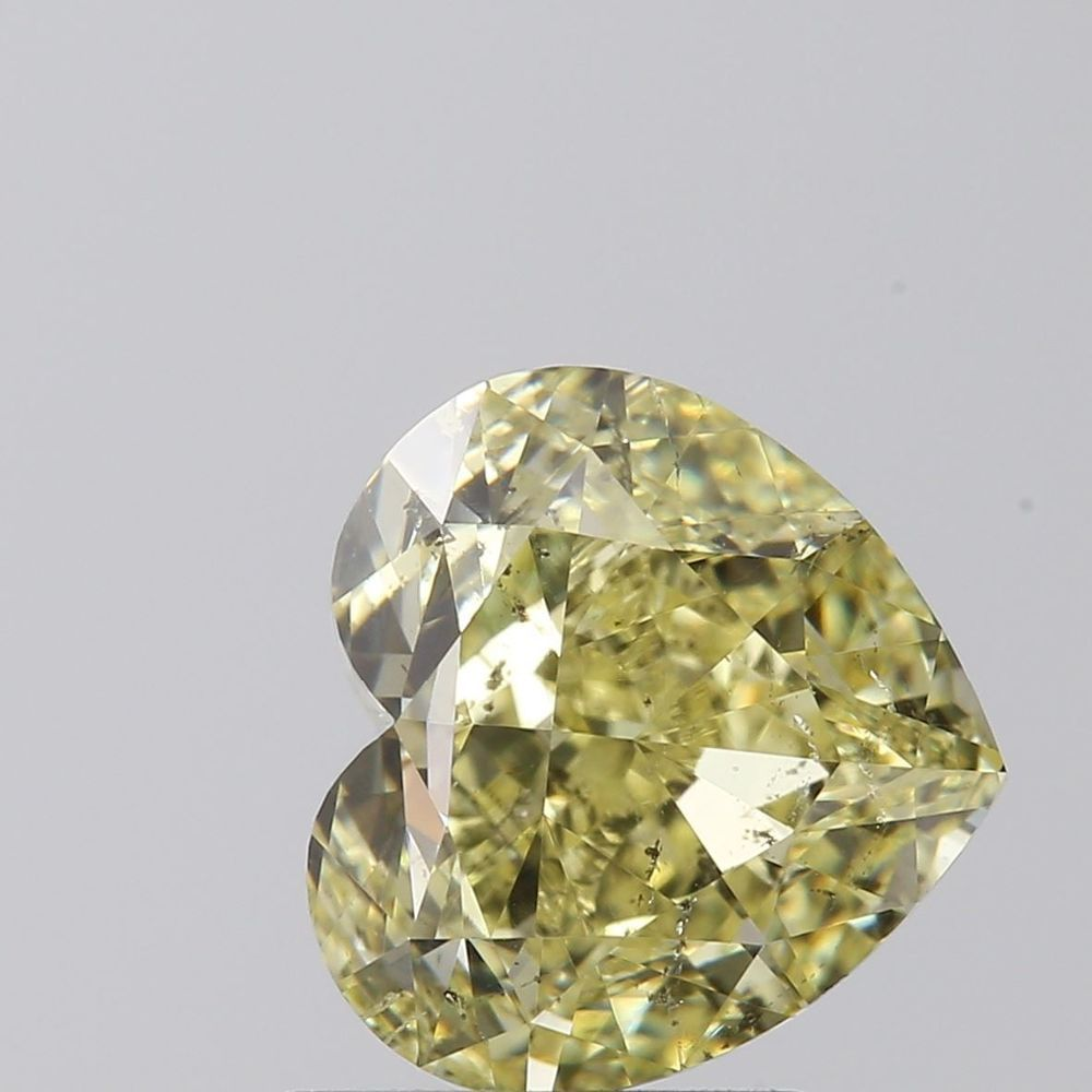 1.71 Carat Heart Loose Diamond, Fancy Yellow, SI2, Ideal, GIA Certified