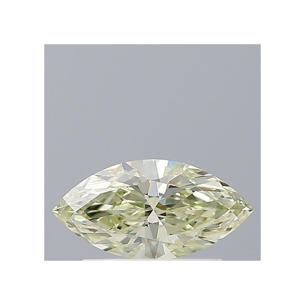 0.43 Carat Marquise Loose Diamond, Fancy Light Yellow, VS2, Ideal, GIA Certified