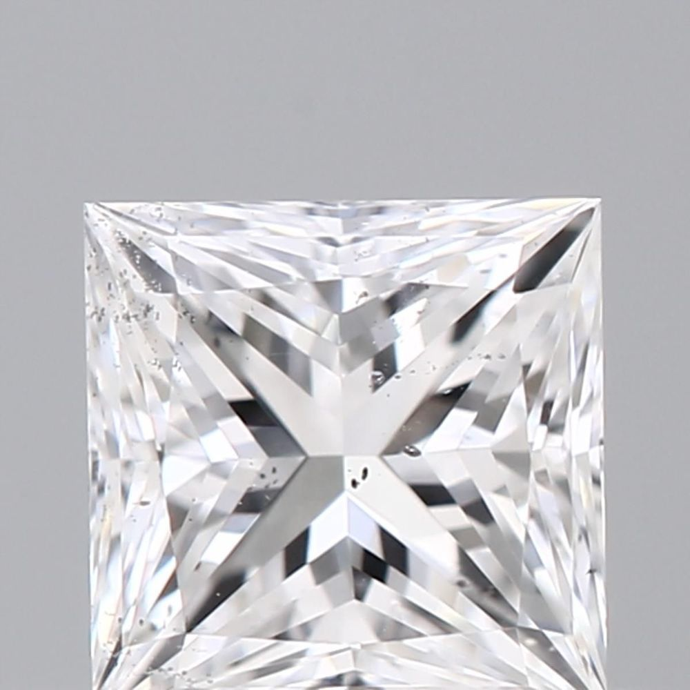 0.33 Carat Princess Loose Diamond, D, SI2, Excellent, GIA Certified | Thumbnail