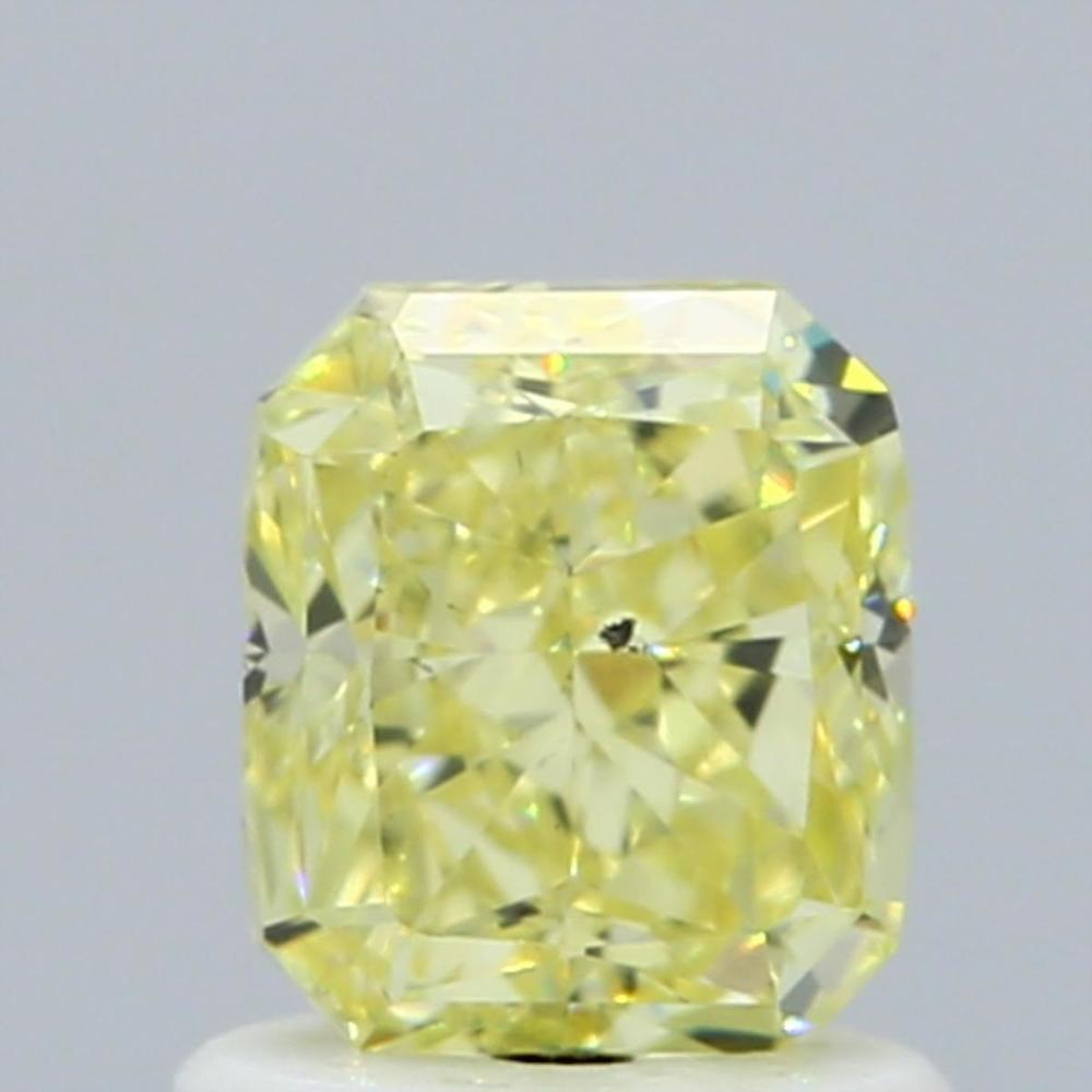 1.13 Carat Radiant Loose Diamond, Fancy Yellow, SI1, Excellent, GIA Certified