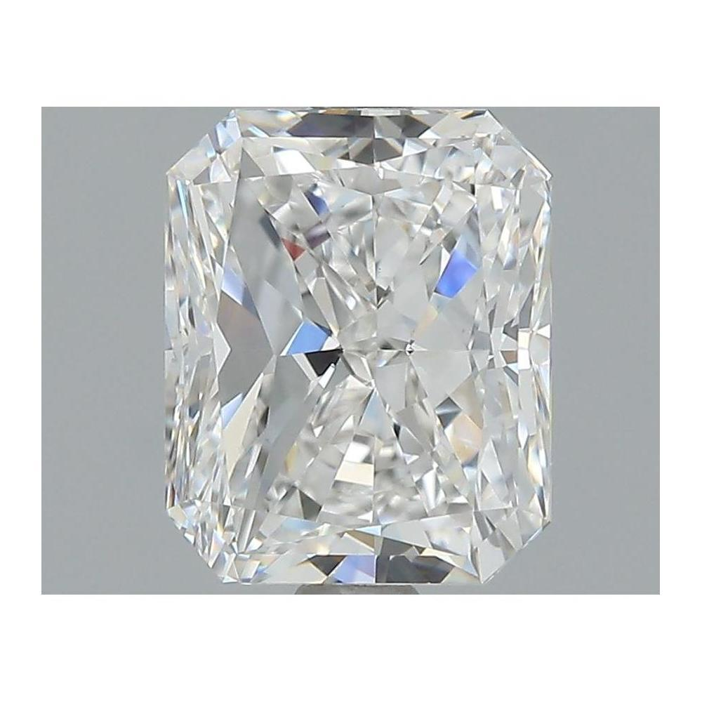 2.00 Carat Radiant Loose Diamond, F, IF, Excellent, HRD Certified