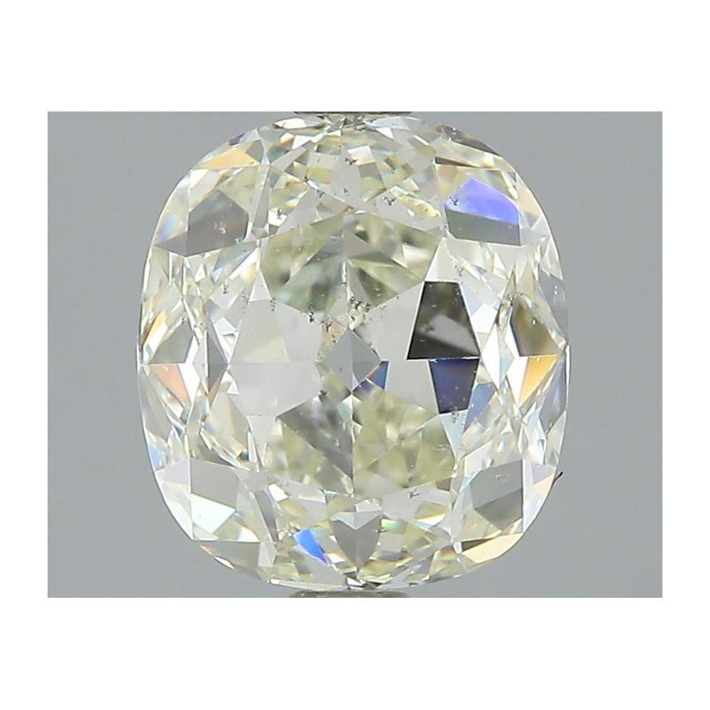 2.02 Carat Cushion Loose Diamond, K, SI1, Super Ideal, HRD Certified