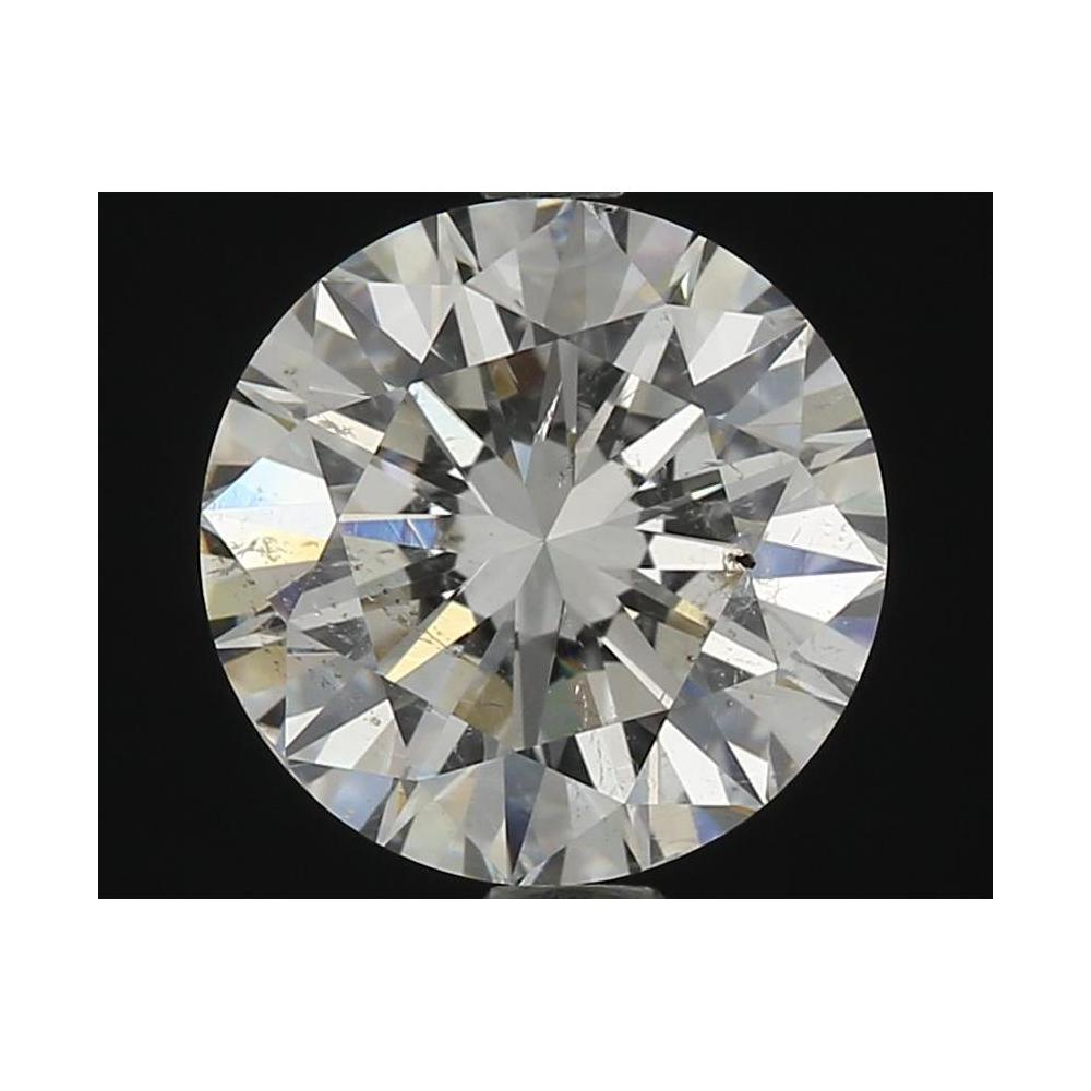 1.70 Carat Round Loose Diamond, G, SI2, Ideal, HRD Certified