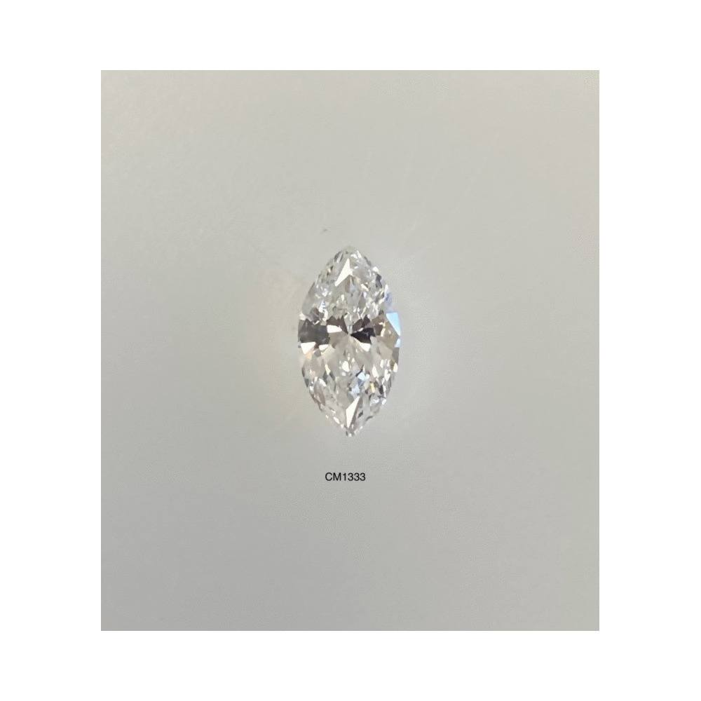 0.48 Carat Marquise Loose Diamond, E, SI2, Excellent, GIA Certified