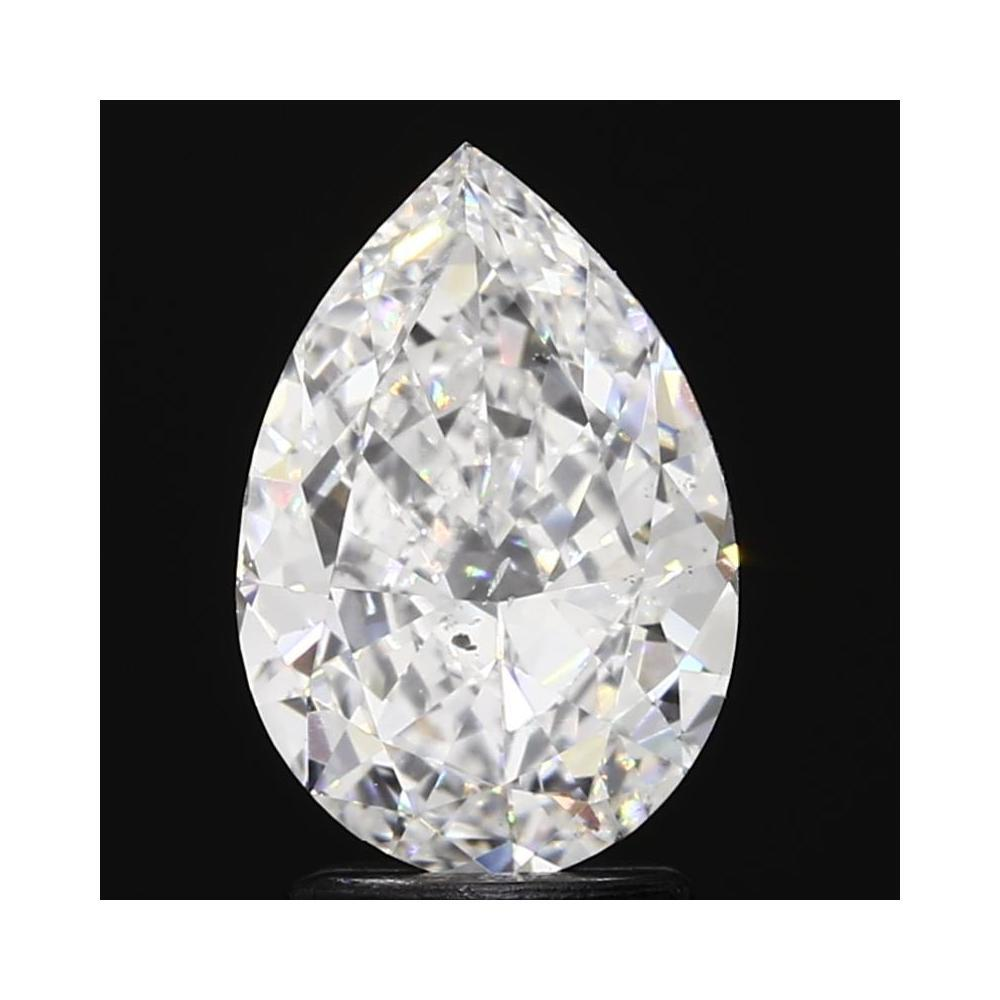 2.01 Carat Pear Loose Diamond, D, SI1, Ideal, GIA Certified