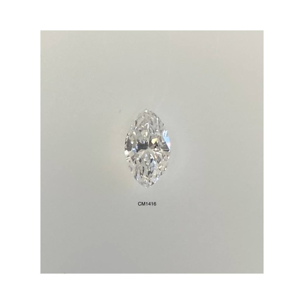0.61 Carat Marquise Loose Diamond, E, SI2, Excellent, GIA Certified