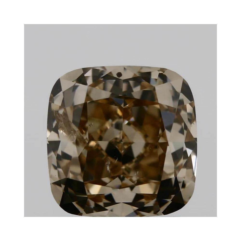 1.28 Carat Cushion Loose Diamond, fancy brown yellow, I1, Ideal, GIA Certified