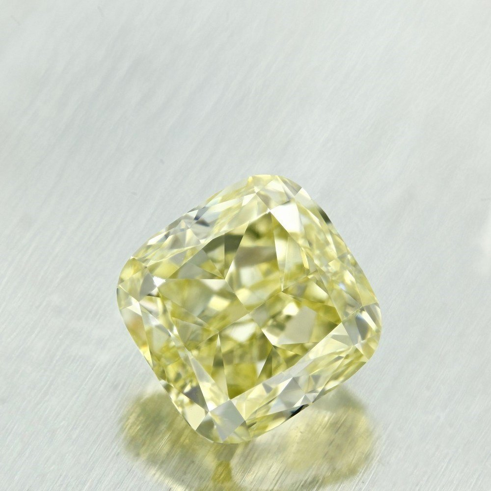 2.02 Carat Cushion Loose Diamond, Fancy Light Yellow, VVS2, Very Good, GIA Certified