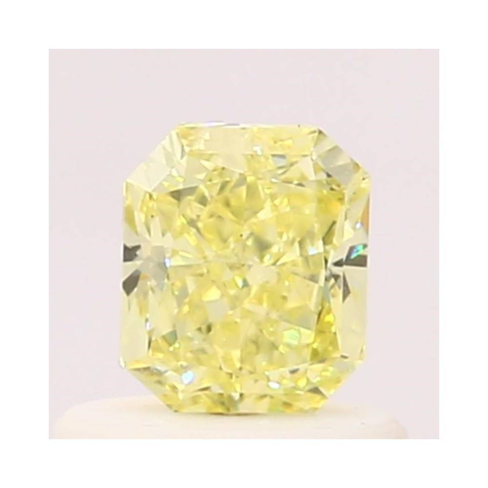 0.54 Carat Radiant Loose Diamond, Fancy Yellow, VS1, Very Good, GIA Certified
