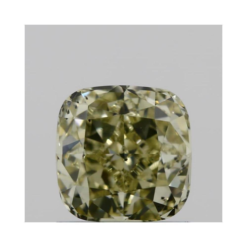 0.92 Carat Cushion Loose Diamond, fancy light yellow, SI1, Excellent, GIA Certified