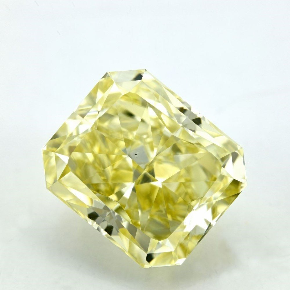 12.05 Carat Radiant Loose Diamond, Fancy Yellow, VS2, Super Ideal, GIA Certified