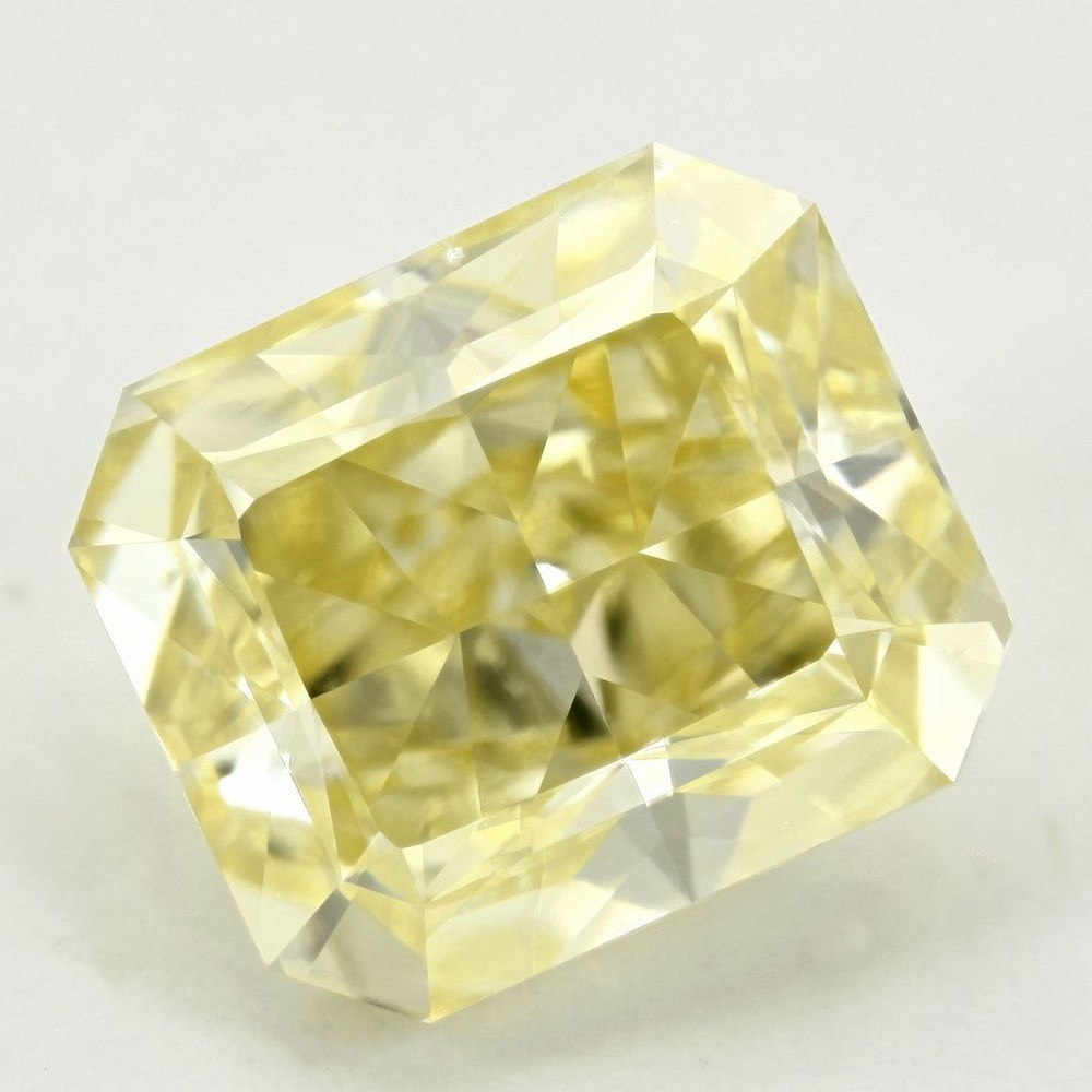 1.57 Carat Radiant Loose Diamond, Fancy Yellow, SI1, Very Good, GIA Certified