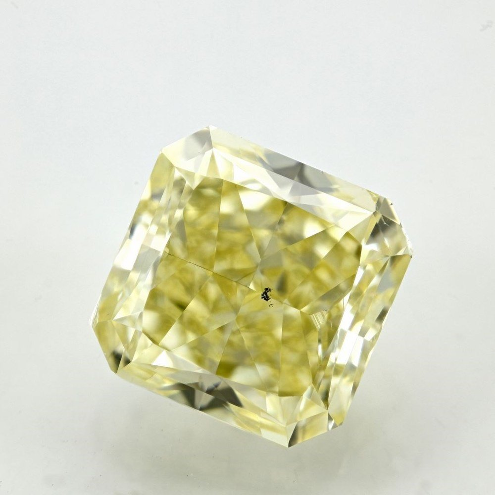 2.80 Carat Radiant Loose Diamond, Fancy Yellow, SI1, Ideal, GIA Certified