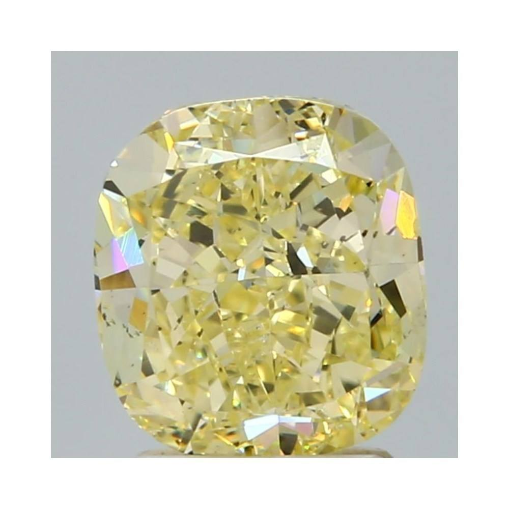 2.34 Carat Cushion Loose Diamond, Fancy Yellow, SI1, Excellent, GIA Certified