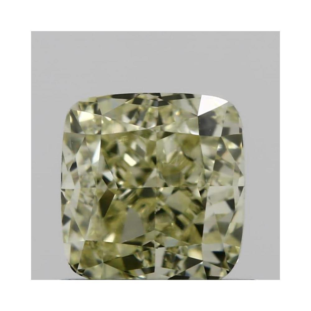 0.78 Carat Cushion Loose Diamond, fancy light yellow, VVS1, Very Good, GIA Certified