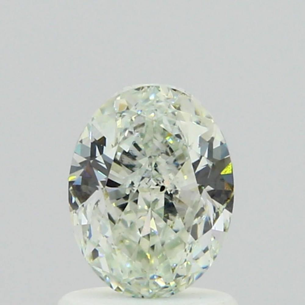 1.06 Carat Oval Loose Diamond, Very Light Green, SI1, Super Ideal, GIA Certified