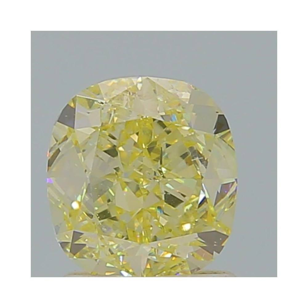 1.53 Carat Cushion Loose Diamond, Fancy Light Yellow, SI1, Ideal, GIA Certified