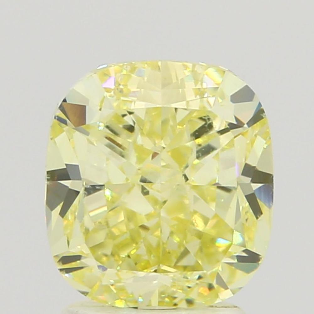 2.61 Carat Cushion Loose Diamond, Fancy Yellow, VS2, Very Good, GIA Certified
