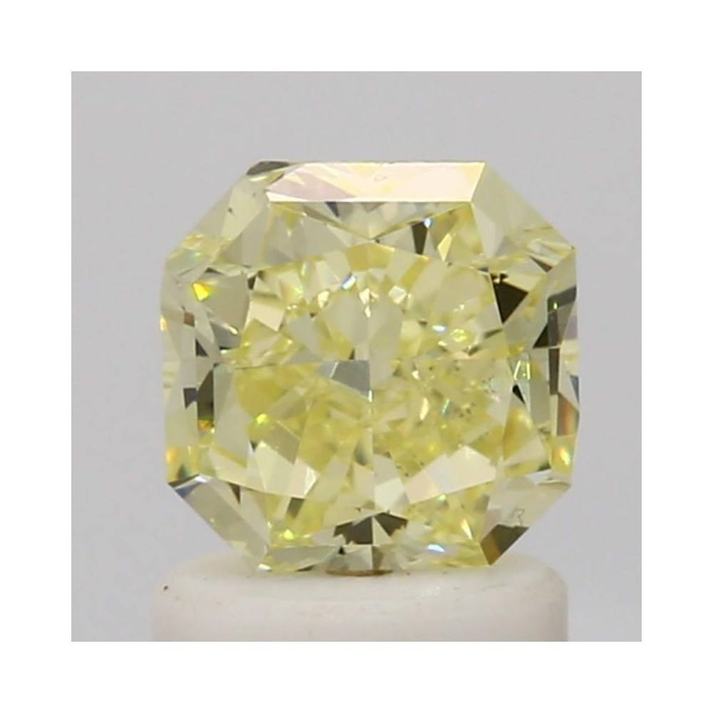 1.28 Carat Radiant Loose Diamond, Fancy Yellow, SI1, Ideal, GIA Certified