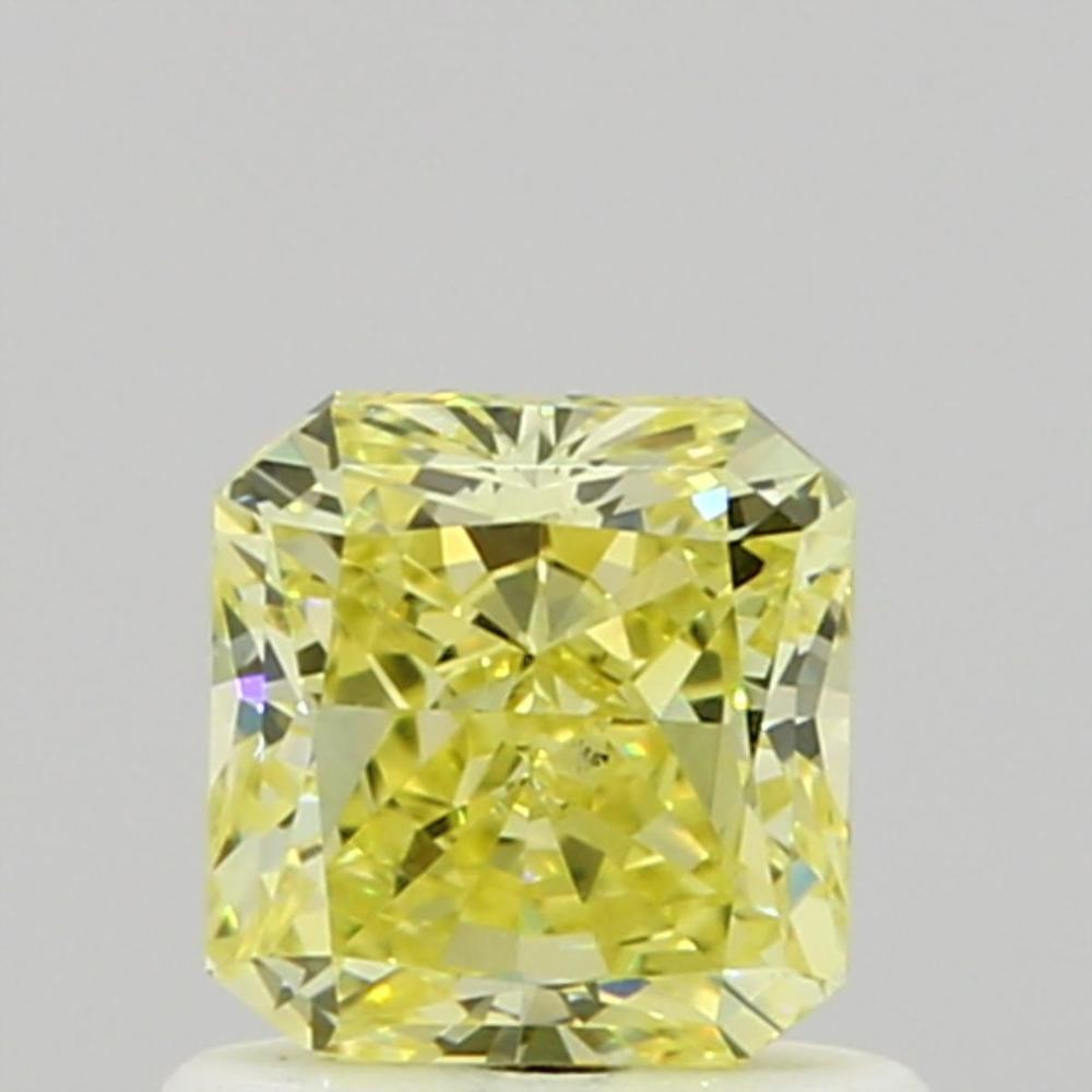 0.80 Carat Radiant Loose Diamond, Fancy Yellow, VS2, Ideal, GIA Certified