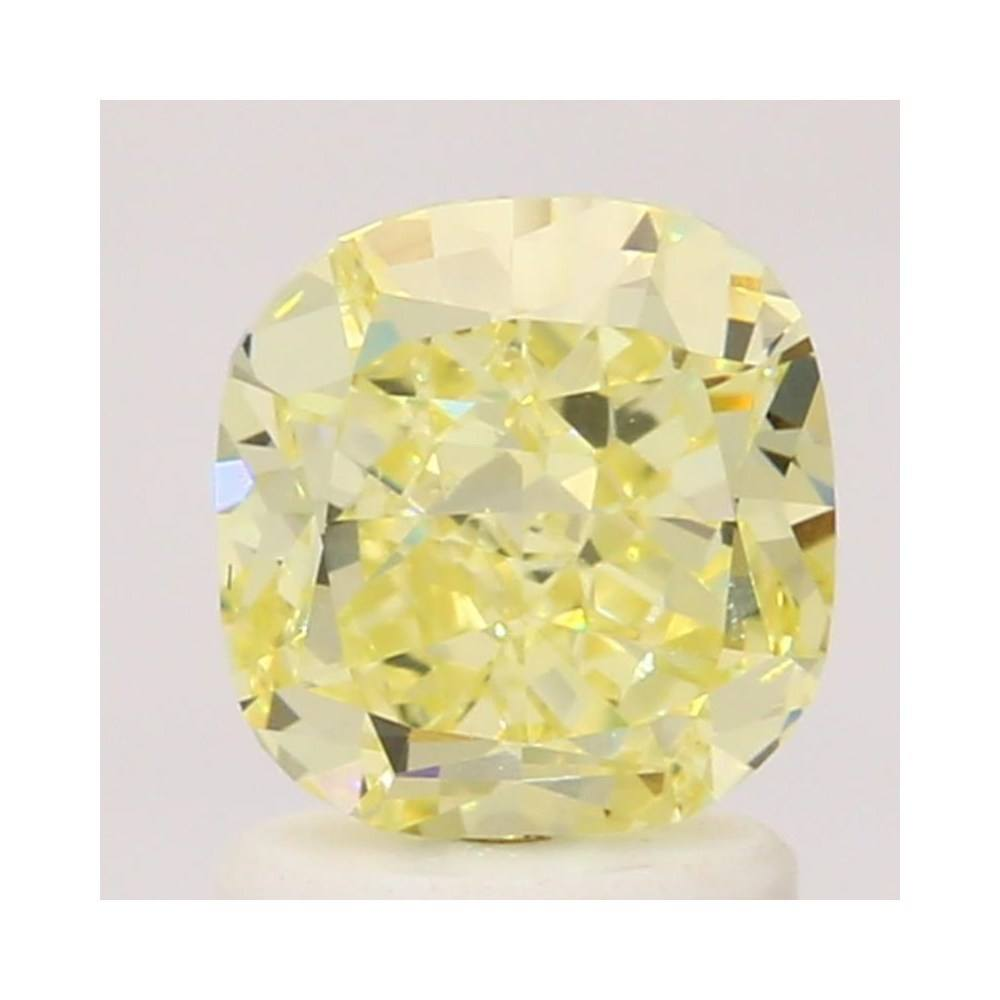 1.54 Carat Cushion Loose Diamond, Fancy Yellow, VS1, Excellent, GIA Certified