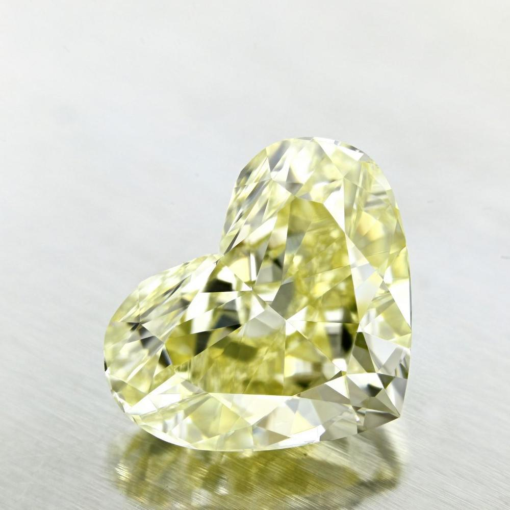 8.59 Carat Heart Loose Diamond, Fancy Light Yellow, VS2, Excellent, GIA Certified