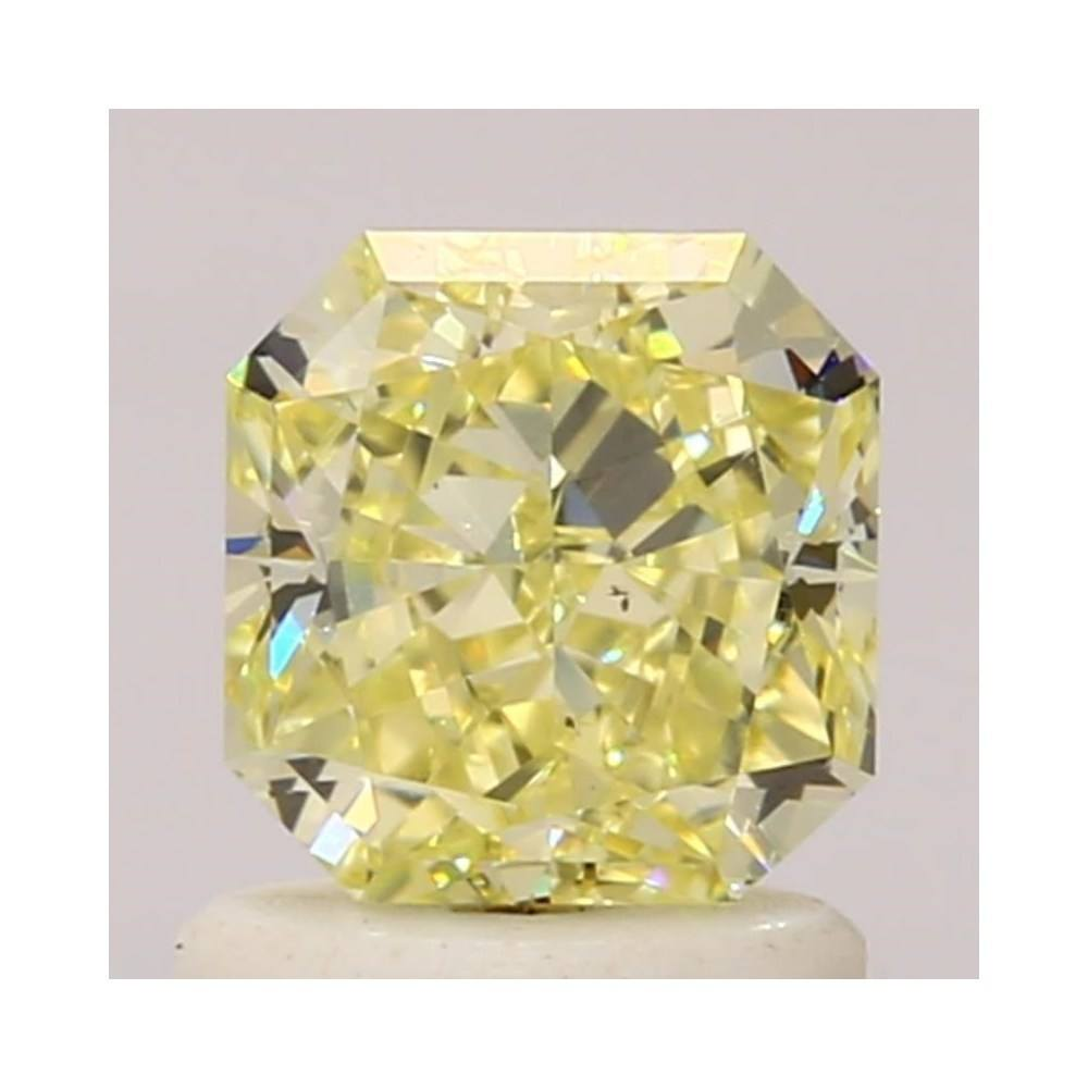 1.15 Carat Radiant Loose Diamond, Fancy Light Yellow, VS2, Ideal, GIA Certified