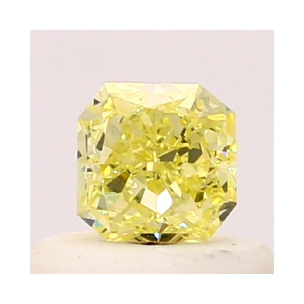 0.37 Carat Radiant Loose Diamond, Fancy Yellow, SI1, Excellent, GIA Certified