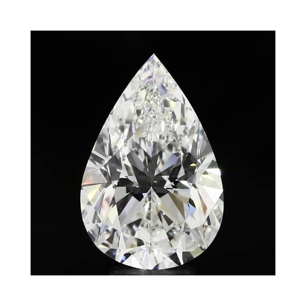 5.01 Carat Pear Loose Diamond, H, VVS2, Ideal, GIA Certified | Thumbnail